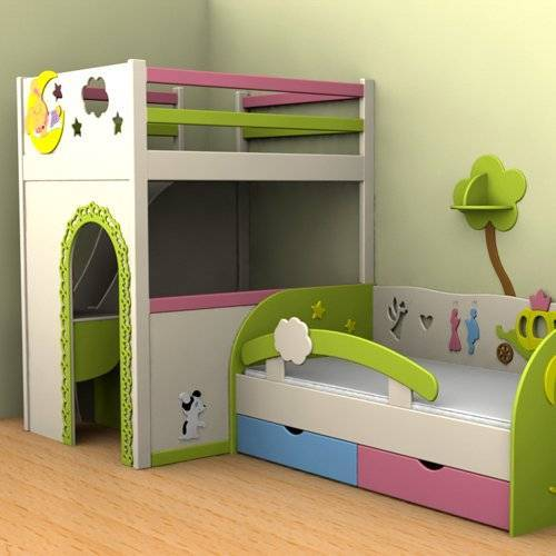 Детская комната для трёх девочек